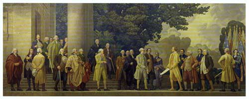 Painting Of Founding Fathers Inside The National Archives ...